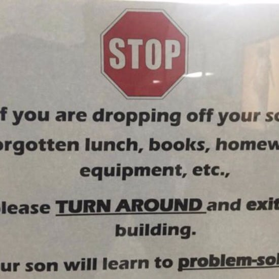 School Sign Urges Parents to Teach Kids to Problem-Solve