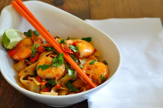 Shrimp and Rice Noodle Stir-Fry