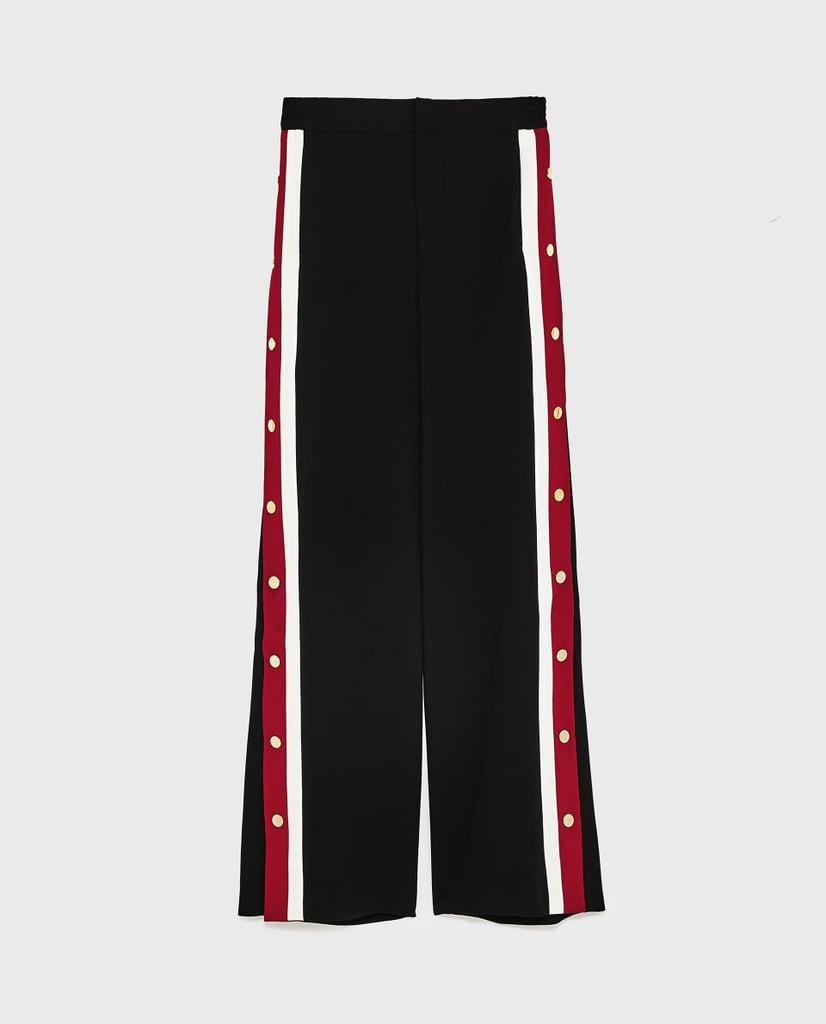 177aa9c0 Zara Pajama-Style Trousers With Side Stripe | Best Zara Pieces ...