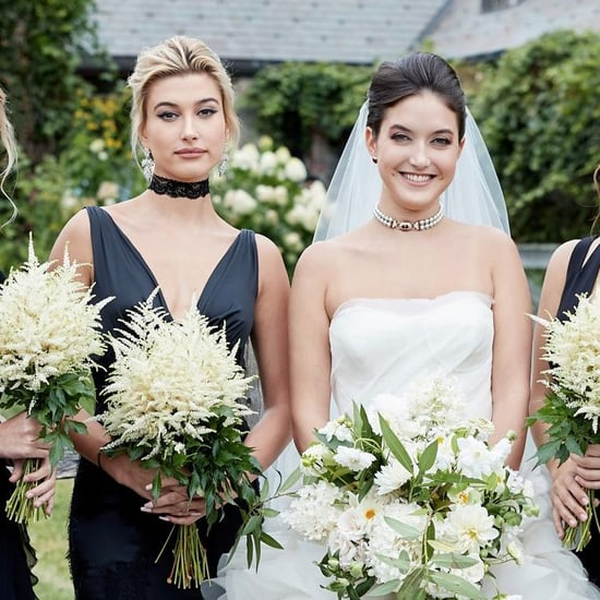 Hailey Baldwin's Black Maid of Honor Dress