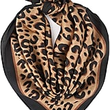 Your Smile Satin Leopard Scarf