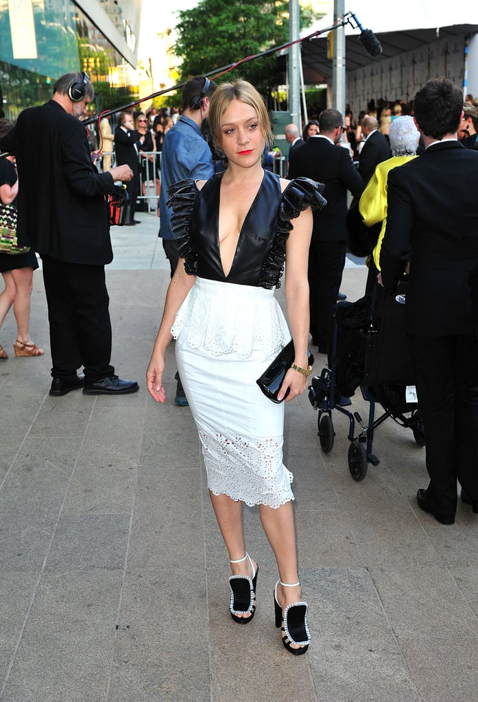 Chloe Sevigny — who is holding her first ever Chloe Sevigny for Opening Ceremony runway show to debut her Resort 2012 collection today — gave a preview last night of what's to come down the catwalk by wearing her Resort pieces head-to-toe.
