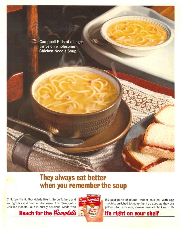 1964   campbell's chicken noodle soup vintage ads