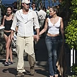The two looked casual and relaxed as they showed PDA in Vancouver in July 2003.