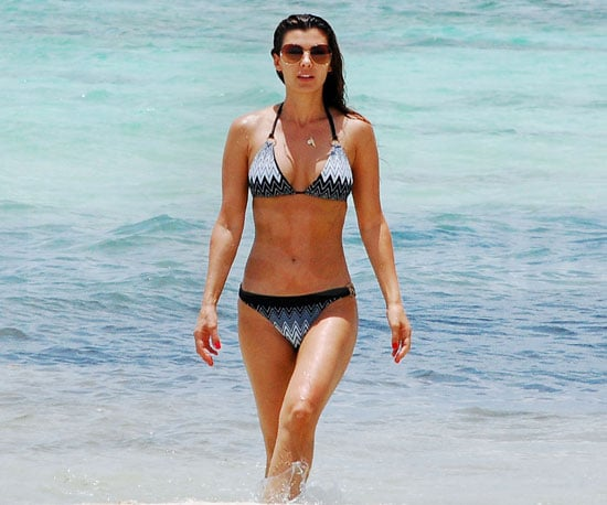 Slide Photo of Ali Landry in a Bikini on the Beach in LA