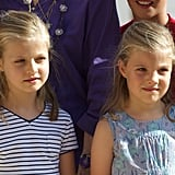 Princess Leonor and Infanta Sofía in 2013
