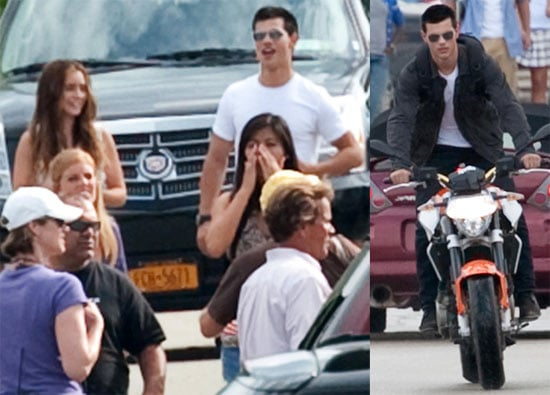 Pictures of Taylor Lautner and Lily Collins on the Pittsburgh Set of Abduction