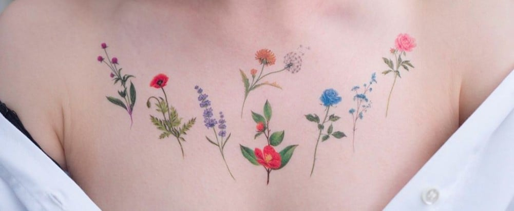 These Blooming Beautiful Tattoos Are Temporary, and You Won't Believe It