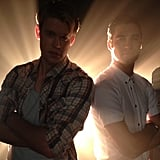 Chord Overstreet and Darren Criss struck a pose while filming a number for Glee. Source: Instagram user chordover