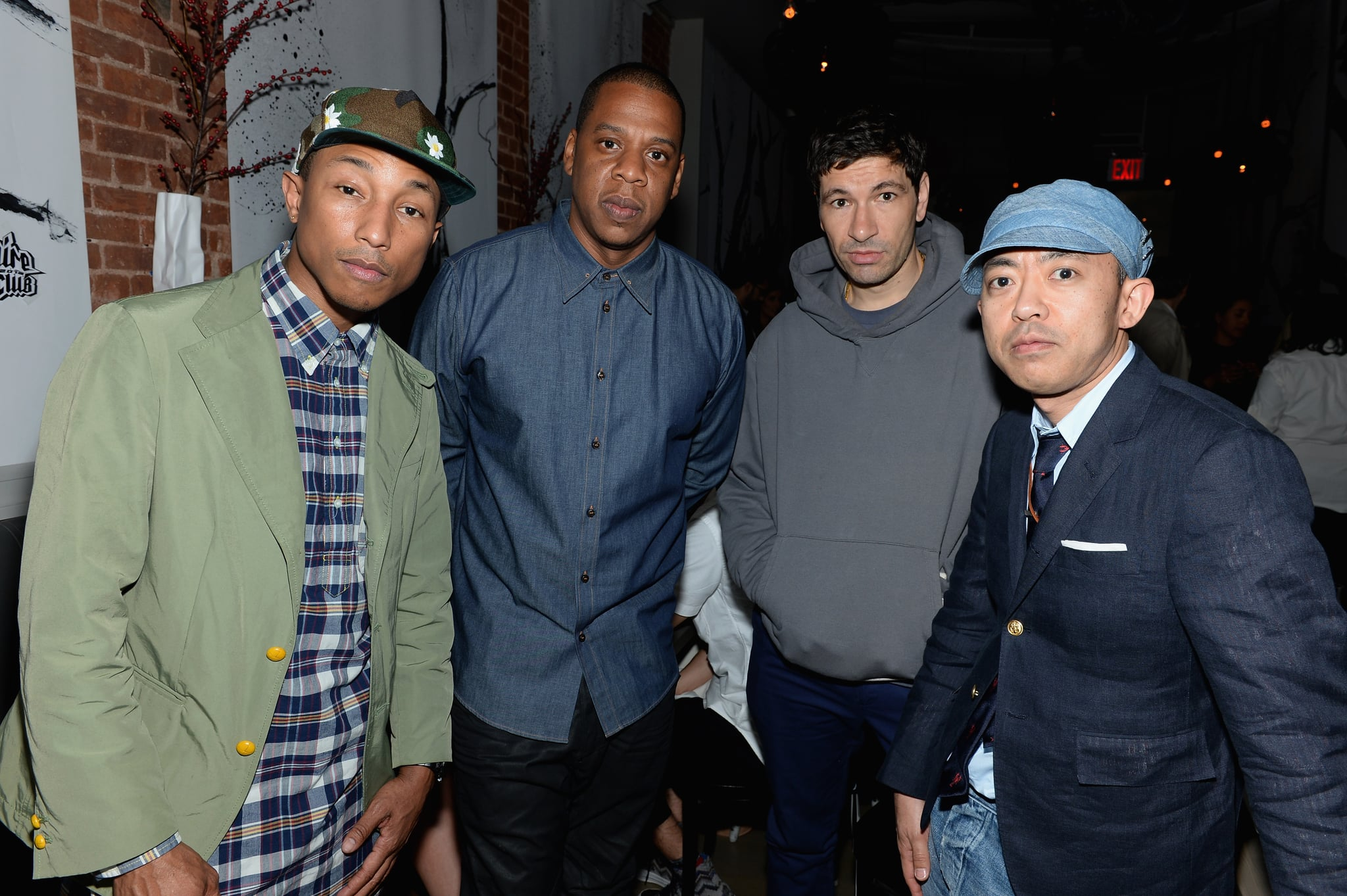 Pharrell Williams and his Billionaire Boys Club cofounder, Nigo, posed with Jay-Z and another guest.