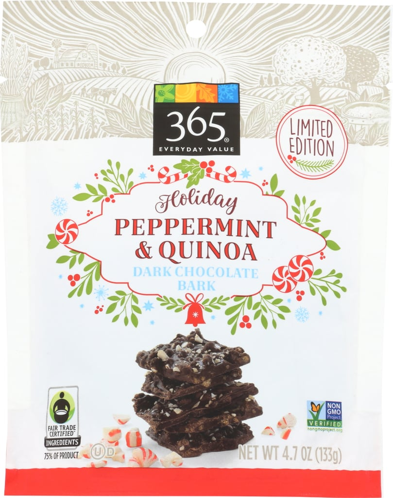 365 Everyday Value Dark Chocolate Quinoa & Peppermint Bark Thins ...