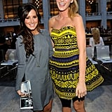 Blake Lively bonded with a brunette Ashley Tisdale during the 2010 celebration.