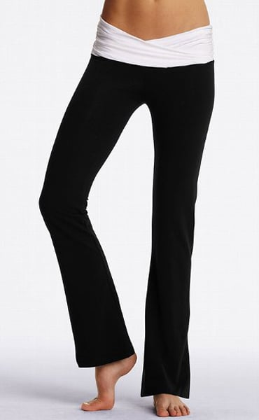 Victoria's Secret put out a pretty yoga line that's reasonably priced. These Victoria's Secret Yoga V-Front Pants ($30) are superflattering for your front.