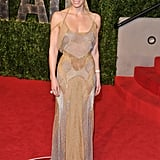 Jessica Biel in Versace at the Vanity Fair Oscars Party