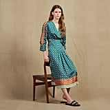 Sandro Patchwork Printed Long Dress