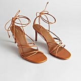 & Other Stories Strappy Lace Up Leather Heeled Sandals
