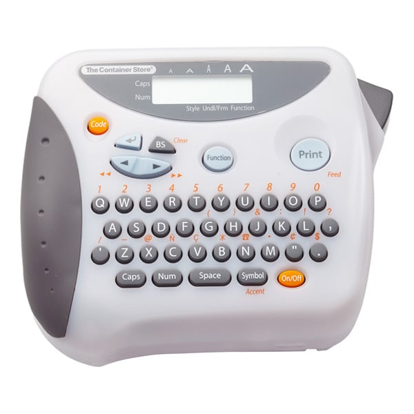 Make 2016 the year you invest in a label maker ($49), but be warned that label making can be addictive. This handy little machine will help create a sustainable system for organization for anything from containers of light bulbs and batteries to boxes of loose photos and memorabilia.