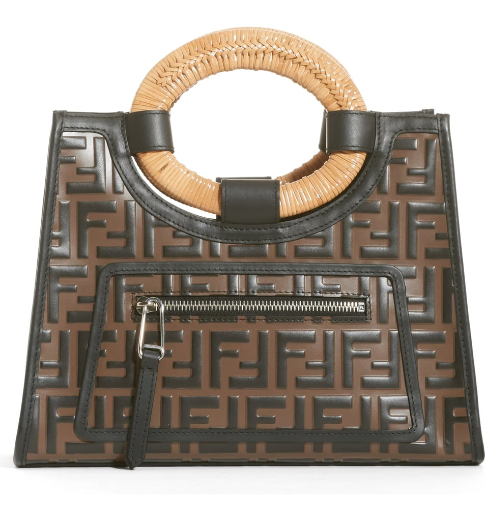 Fendi Runaway Logo Calfskin Leather Shopper