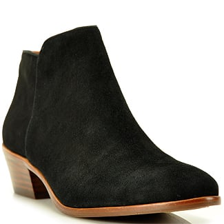 Black ankle boots are a wardrobe staple, and are great for hoofing it across campus. Sam Edelman Petty Black Suede Ankle Bootie ($160)
