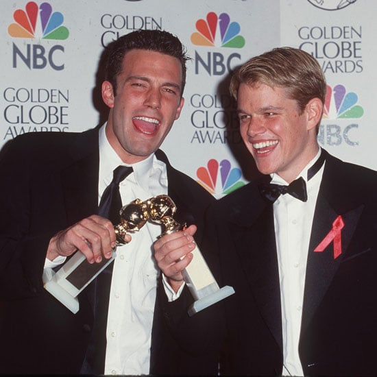 Ben Affleck and Matt Damon celebrated their exciting 1998 win in the press room.