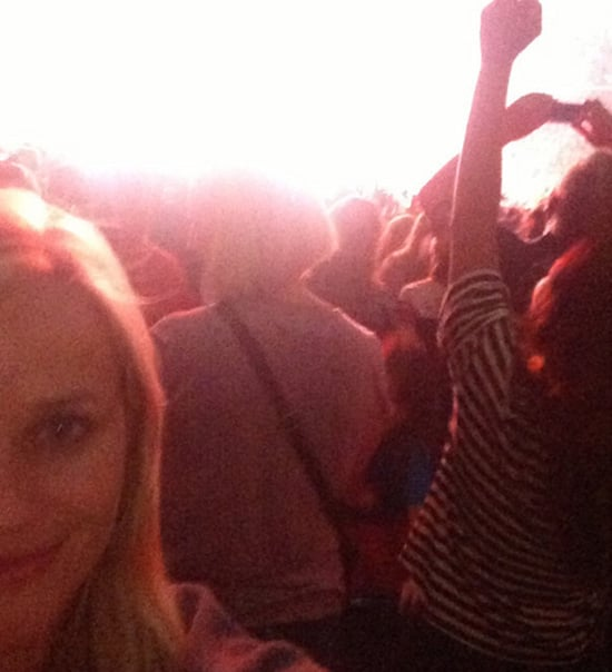Reese Witherspoon shared a photo of herself at Taylor Swift's LA show. Source: WhoSay user RWitherspoon