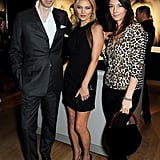 Kate Moss was all smiles with photographers Nick Knight and Mary McCartney.