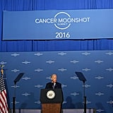 Heading up Moonshot, his cancer research program.