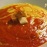 Soup's On Corn and Roasted Red Pepper Rainbow Soup