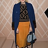 Chloë Grace Moretz showed her love for the brand by sitting front row at Fendi's Fall 2018 runway show.