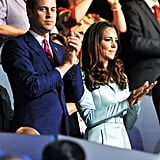 The Duke and Duchess of Cambridge clapped during the London opening ceremony.