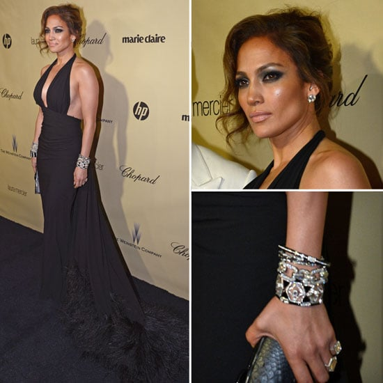 Jennifer Lopez Golden Globes Party Fashion 2013