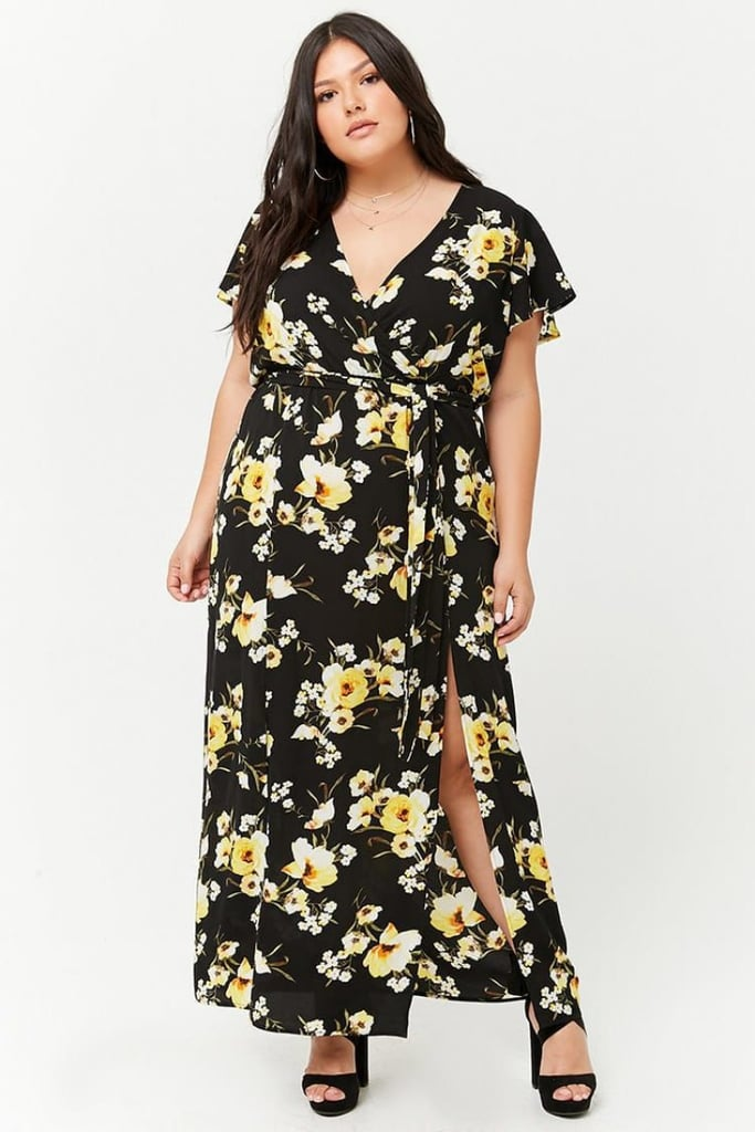 d620951b50 Forever 21 Plus Size Floral Surplice M-Slit Maxi Dress | Taylor ...
