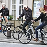 Leonardo DiCaprio and girlfriend Erin Heatherton chatted during a bike ride together in NYC.