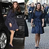 When the Perfect Choice Was a Navy Trench-Like Coat Dress