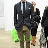 Johannes Huebl was among the night's most dapper at the Paola Pivi exhibition at New York's Galerie Perrotin.