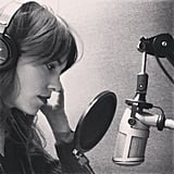 Alexa Chung hit the recording studio. Source: Instagram user chungalexa