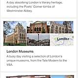 Google Suggests Itineraries, Too
