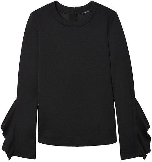 e5fa0c21251 Banana Republic Ruffle-Sleeve Couture Sweatshirt | Cute Sweatshirts ...