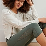 Aerie Move Lasercut High-Waisted Cropped Legging