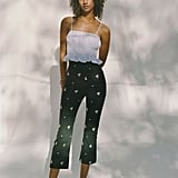 UO Daisy Embroidered Kick Flare Pants