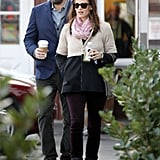 Ben Affleck and Jennifer Garner grabbed breakfast at the Brentwood Country Mart.