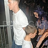 Katy Perry was accompanied by her new man at the second weekend of Coachella.
