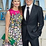 Pictured: Colin Firth and Livia Giuggioli