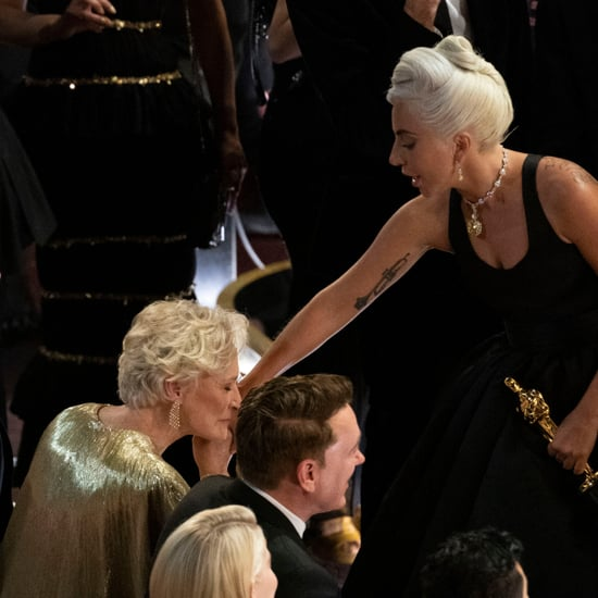 Glenn Close and Lady Gaga at the 2019 Oscars