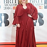 Adele at Brit Awards February 2016