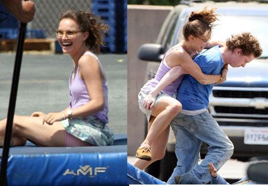 Natalie Portman Filming