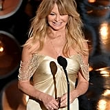 Goldie Hawn took the stage.