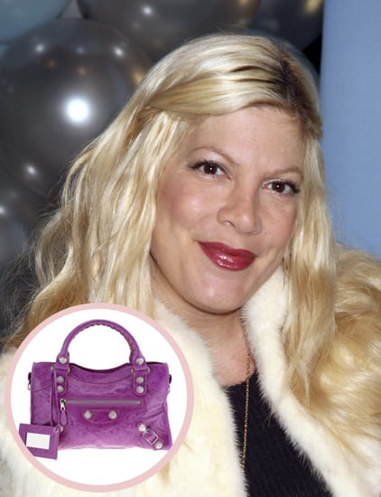 All push presents aren't sparkly jewels. After giving birth to Liam in 2007, Tori Spelling received a Balenciaga bag from husband Dean McDermott.