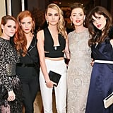 Kristen Stewart, Riley Keough, Cara Delevingne, Amber Heard, and Zooey Deschanel — 2014