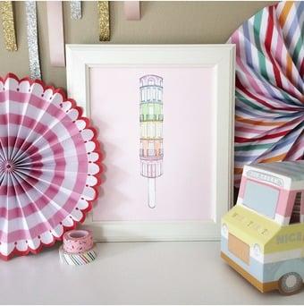 Rainbow Sugar Town Art Print ($25)